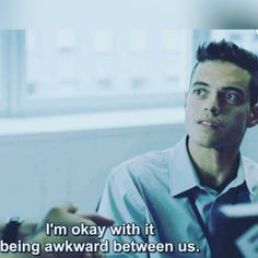 """~ ♥ Mr. Robot: All Safe: """"I'm okay with it being awkward between us.""""  {Summer 2015} ♥ ~"""