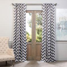 Exclusive Fabrics Fez Grey/ Tan Blackout Curtain Panel Pair