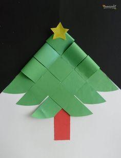 Kerstboom vouwen - stap voor stap uitgelegd d.m.v. afbeeldingen