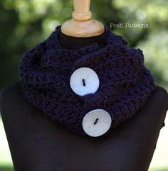 Crochet cowl shawl pattern