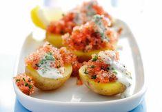 5:2-kuren opskrifter – 11 opskrifter på 250 kalorier | Iform.dk Frisk, Nutribullet, Fish And Seafood, Enchiladas, Quinoa, Baked Potato, Zucchini, Foodies, Chili