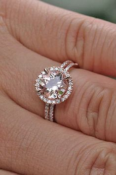 VS Aquamarine engagement ring set Curved U diamond wedding band yellow gold half eternity band aquamarine bridal rings - Fine Jewelry Ideas Rose Gold Engagement Ring, Engagement Ring Settings, Morganite Engagement Rings, Solitaire Diamond, Wedding Engagement, Diamond Bands, Diamond Wedding Bands, Unique Rings, Dream Ring