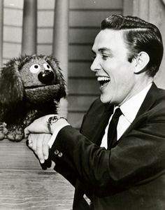 Country singer Jimmy Dean. His 1960s variety show on ABC gave the Muppets their first weekly exposure on national television. Rowlf became a star.