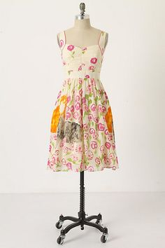 Botanical Stroll Dress #anthropologie Bought a size 2, I need a 0. To large in the bust