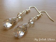Learn How to Wire Wrap: Crystal Earrings tutorial from the My Girlish Whims…