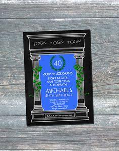Toga Party Invitation, Toga Invitation, Toga Birthday Invitation, 40th Birthday Invitation, 30th Birthday, 50th Birthday, Digital Printable