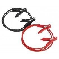 Sealey Booster Cables 5mm² x 1.5mtr Copper 100Amp Motorcycle