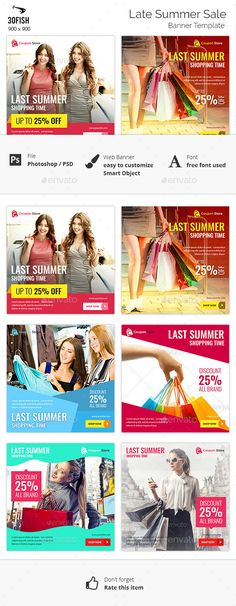 Last Summer Sale Banner Template #design Download: http://graphicriver.net/item/last-summer-sale-banner/12596636?ref=ksioks