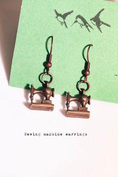 Sewing machine earrings #whitelilydesign $9