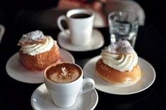 Having breakfast with coffe