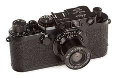 Leica IIIf black paint 'Swedish Army' w/ BP 50/3.5 Elmar