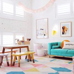 The playroom is my fave room in the house my kids prefer to sit and draw or do puzzles over running around outside, and I love creating a space for them to encourage their creativity! Xx #tapforsources #thenealsplace