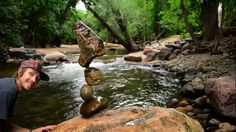 Stone Balance Demonstration by Michael Grab (Gravity Glue) - 1409 - September 2014 on Vimeo