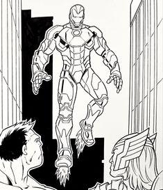 Avengers Assemble. Pencils: Ron Lim, Inks: Walden Wong. Sub me at www.YouTube.com/WaldenWongArt . #avengers #thor #mcu #marvel #comics #marvelcomics #marvellegends #doodle #sketch #draw #ink #inks #inking #art #artist #dccomics #cosplay #artoftheday #artaccount #artwork #artinspiration #anime #artoftheday #artistsoninstagram #drawdraw #dccomics #superheroes #manga #draweveryday #drawingsketch #arte Mcu Marvel, Marvel Comics Art, Doodle Sketch, Drawing Sketches, Drawings, Comic Art, Comic Books, Marvel Legends, Art Day