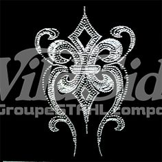 FLUER DE LIS SILVER AND GRAY (RHINESTONES AND RHINESTUDS)   The Wild Side
