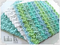 Free crochet pattern! you will love this free wash cloth pattern from LuLu Belle Designs! •*¨`*•✿Teresa Restegui http://www.pinterest.com/teretegui/✿•*¨`*•