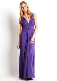 Pretty and simple purple maxi dress