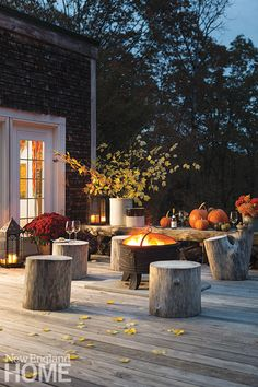 Maine collectors outdoor seating area