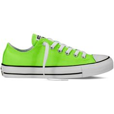 Converse Chuck Taylor All Star Neon – green gecko Sneakers (1,025 MXN) ❤ liked on Polyvore featuring shoes, sneakers, green gecko, star shoes, converse footwear, converse trainers, neon green sneakers and converse shoes