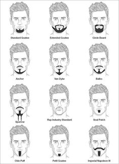 Goatee styles are something every bearded gentleman should be familiar with. Whether it's a stepping stone to a heavier beard, a switch from… Beard Styles For Men, Hair And Beard Styles, Men Facial Hair Styles, Beard No Mustache, Moustache, Goatee Styles, Goatee Beard, Beard Lover, Hair Reference