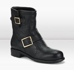 Jimmy Choo | Youth | Biker Leather Boot | JIMMYCHOO.COM