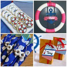 Nautical Party on board. Superhero Birthday Party, Halloween Birthday, Birthday Parties, Birthday Ideas, Nautical Party, Navy Party, Party Fiesta, Bunco Party, Sailor Party