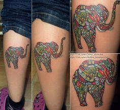 elephants!!! Amazing Elephant Tattoo Designs #stoppoaching #elephants ...