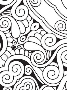 Summer Patterns, Swirls, Illustration, Coloring Pages, Digital, Free Coloring, Budget, Patterns, Illustrations