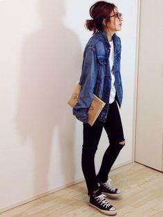 Styling tips Tokyo fashion denim, Tokyo fashion androgyn. Tokyo Fashion, Runway Fashion, Womens Fashion, Fashion Spring, Fashion 2018, Daily Fashion, Everyday Fashion, Love Fashion, Fashion Couple