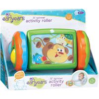 Lil' Spinner Activity Roller  Great for tummy time, crawling and beginning walkers. #Babies twist, click, roll and open a peek-a-boo door while watching moving images on front screen. Multiple activities encourage curiosity and movement. Ages 6+ months.  #Toys #Kids #ToyStore #Toys4kids #Fun4Kids