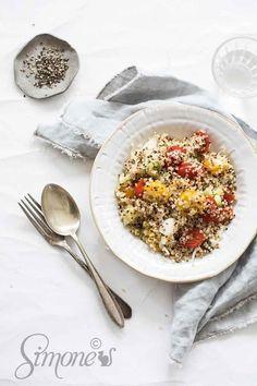 Salade met quinoa en venkel https://simoneskitchen.nl/salade-met-quinoa-en-venkel/