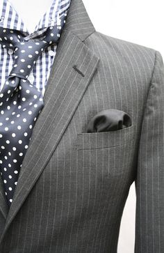 Mens Vintage 2 Piece Grey University Stripe Suit by ViVifyVintage