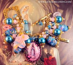 Our Lady of Lourdes Charm Bracelet  Mady by Lety's creations. Beautiful and each one holds spiritual blessings.