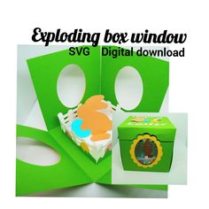 """""""Exploding box Easter bunny window SVG digital download Cricut"""" How To Use Cricut, Happy Easter Bunny, Insert Image, Exploding Boxes, Cricut Tutorials, Explosion Box, All Holidays, Pocket Cards, Heart Cards"""