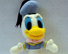 Pato Donald de amigurumi