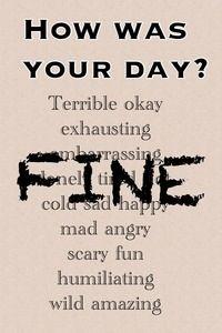 Yes,I'm fine