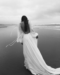 Bride walking at beach Wedding Venue Inspiration, Wedding Ideas, Mont Saint Michel, Aesthetic Photo, Wedding Styles, Wedding Venues, Dream Wedding, Wedding Photography, Photoshoot