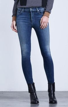 Citizens Of Humanity Avedon High Rise Skinny In Reign - Jessimara Citizens Of Humanity, Distressed Jeans, Skinny Jeans, Female, Denim, Reign, Pants, Shopping, Clothes