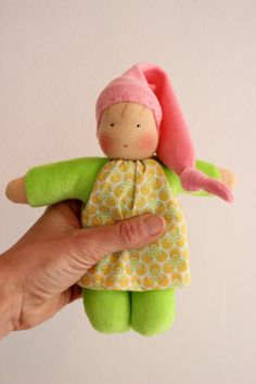 waldorf inspired doll, cuddle doll, Babies first friend, natural toy