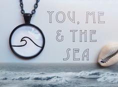 Single Wave Pendant, Wave Jewelry, Hand drawn Pendant, Black Pendant, Surf Jewelry, Surfing, Simple Drawing, Art Pendant, Original Drawing by CalamariSky on Etsy