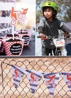 Abigail Barnes of Paper & Cake helped a friend whip up this super cool BMX Birthday Party for her son, and it honestly looks like a BLAST. I mean,