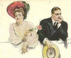 Howard Chandler Christy Vintage Postcard Teasing by TheOldBarnDoor