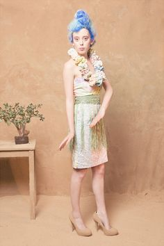 Lu Flux Mai Tai dress, Palm skirt