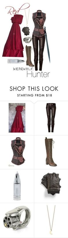 Red Riding Hood: Werewolf Hunter by aliciawiseman on Polyvore featuring Balmain, Nine West, Calibro 12, Minor Obsessions, MICHAEL Michael Kors and S.W.O.R.D.