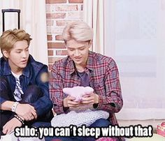 I think that Sehun's Pinku Pinku is one of the biggest Lu's enemies :D