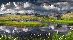 Norway sky and fields