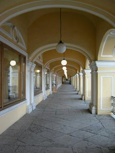 Neoclassical Design, Big Building, Hallways, Arcade, Architects, Construction, Gallery, Amazing, Saint Petersburg