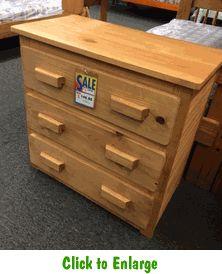 Oak Finish 3 Drawer Chest At Furniture Warehouse | The $399 Sofa Store |  Nashville,