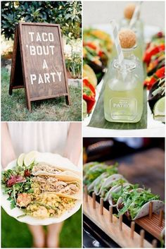 Mexican food is an awesome option for a foodie bar – not only is it delicious and universally loved, but the colors of the ingredients look amazing when they're all laid out together! Moreish make-your-own mini tacos make delicious snacks either at the drinks reception (served with a crisp beer or sparkling lemonade) or as evening food (maybe provide some bibs with these ones!), and if you're feeling extra feisty, serve them up with a shot of tequila and enjoy responsibly.