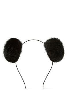 I'm kinda in love with this #dontjudge | Fuzzy Pom-Pom Headband